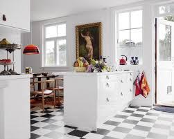 Black And White Kitchen Floor Tiles - classy and elegant black u0026 white floors