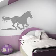 chambre cheval fille sticker cheval au galop stickers center