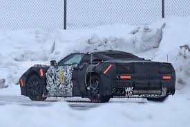 chevy truck with corvette engine spied mid engine chevrolet corvette winter testing with