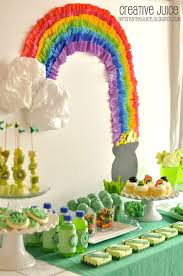 St Patrick S Day Home Decorations St Patrick U0027s Day Rainbow Party U0026 Free Printables Party Ideas