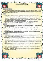english teaching worksheets persuasive writing