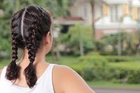 how to i french plait my own side hair how to make two french braids by yourself leaftv