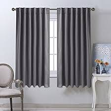 Gray And White Blackout Curtains Nicetown Blackout Curtain Panels For Living Room