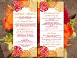 sle of wedding programs ceremony fall wedding program autumn ceremony by paintthedaydesigns