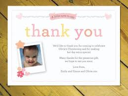 baptism thank you wording personalised thank you cards notes naming day christening birthday