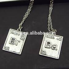 movie jewelry breaking bad br ba necklace alloy dog tag pendant
