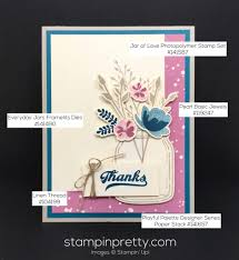 jar of thank you card stin pretty