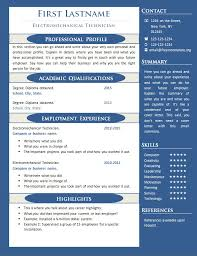Example One Page Resume One Page Resume Template Free Gfyork Com