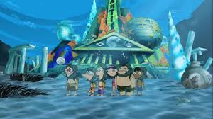 Phineas And Ferb Backyard Beach Game Image Posing For A Picture In Front Of Atlantis Jpg Phineas
