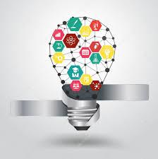 design idea vector light bulb idea hexagon modern design template stock vector