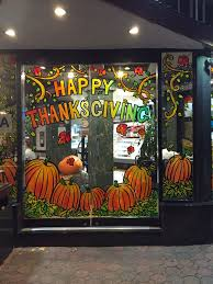 thanksgiving and fall windows painting from