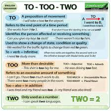 these meaning to too or two woodward english