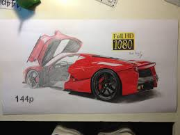ferrari drawing laferrari draw by kova9273 on deviantart