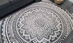 Black And White Modern Rug Industry Mandala Grey And White The Rug
