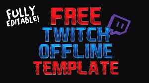 free star wars battlefront twitch offline banner template psd