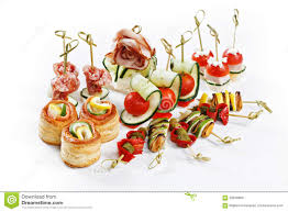 d oration canap set of canapes for one person with vegetables cheese frui