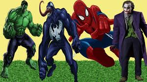 spiderman joker hulk venom coloring pages drawing