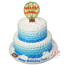 1517 2 tier balloon birthday cake abc cake shop u0026 bakery