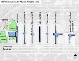 atlanta international airport map hartsfield jackson atlanta atl airport terminal map