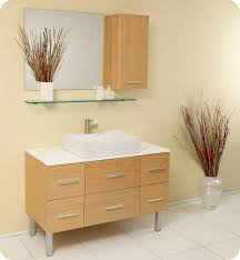 distante 43 inch natural wood bathroom vanity single for stylish