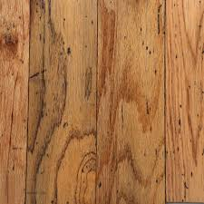 Distressed Engineered Wood Flooring Bruce Distressed Oak Gunstock 3 8 In Thick X 5 In Wide Random