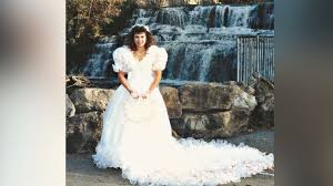 wedding dresses fluffy turns 1980s wedding dress into fluffy tree