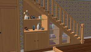 mod the sims under the stairs storage set