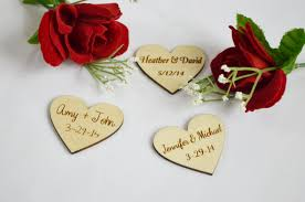 wedding favors personalized personalized wooden hearts wedding favors engraved wood