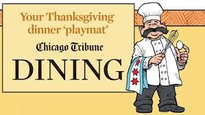 the chicago tribune annual thanksgiving playmat nov 26 2014