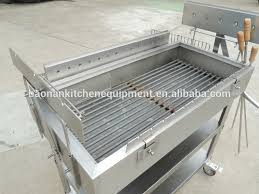 wholesale stainless steel commercial charcoal barbecue grill with