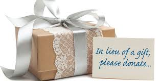 wedding gift donation to charity charitable donation instead of wedding gift lading for