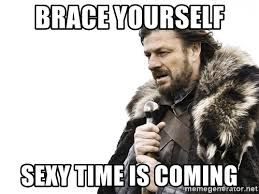 Sexy Time Meme - brace yourself sexy time is coming winter is coming meme generator