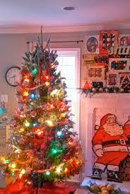 shiny brite ornaments on a white tree