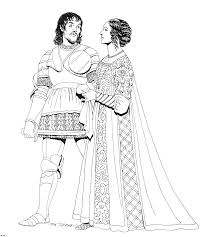 clothing of the renaissance coloring pages coloring home