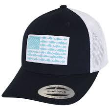 American Flag Snapback Hat Columbia Sportswear Pfg Fish Flag Mesh Snapback Baseball Cap