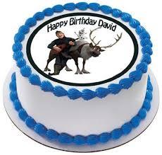 sven kristoff u0026 olaf edible cake or cupcake topper u2013 edible prints