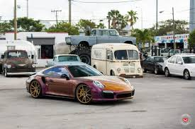 maroon porsche vossen wheels porsche turbo s vossen forgedprecision series