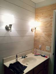 ideas for a bathroom makeover faux shiplap bathroom makeover hometalk