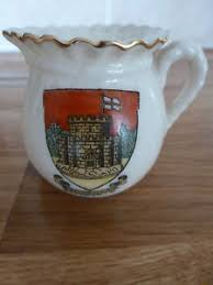arcadian china arcadian miniature vintage china crested souvenir jug sandown iow