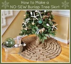 burlap tree skirt no sew burlap tree skirt sand and sisal