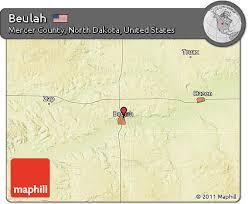 beulah dakota map free physical map of beulah