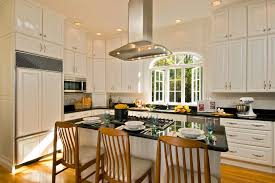 island kitchen and bath painted plywood floors for a traditional kitchen with a large island
