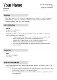 Sample Resume Template by 3 Tips From The Best Resume Samples Available Interview U0026 Resume