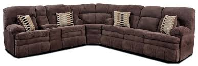 reclining corner sectional sofa with left side cup holder console