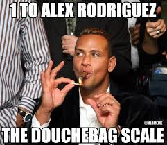 Douchebag Meme - mlb memes on twitter the douchebag scale has finally found its