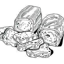 sketch of bread coloring pages sketch of bread coloring pages