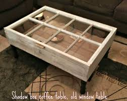 Glass Display Coffee Table Rustic Coffee Table Display Table Shadow Box Coffee