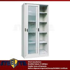 Sliding Door Storage Cabinet by Miniature White 2 Tier Swing Door Metal Shoe Storage Cabinet