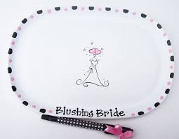 bridal shower autograph plate ceramic signature plate for bridal shower guest book alternative