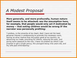a modest proposal worksheet the best and most comprehensive